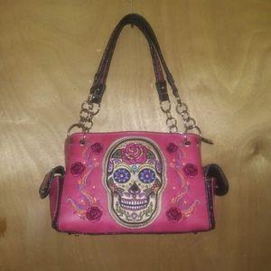 Sugar Skull Purse&Matching Wallet
